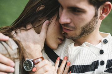 Passionate young couple portrait