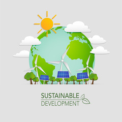 World sustainable development and Ecology friendly concept