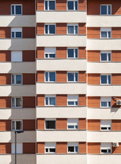 Building Facade in housing blocks