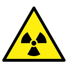 Symbole radiation. Triangle