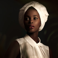 African Woman With a White Turban