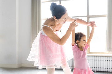 Ballet teacher and kid