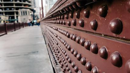 Rivets on Bridge Close Up