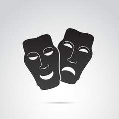 Ancient greek vector mask icon.