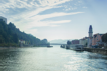 Idyllic morning mood in Passau, Germany