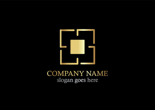 gold square target company logo