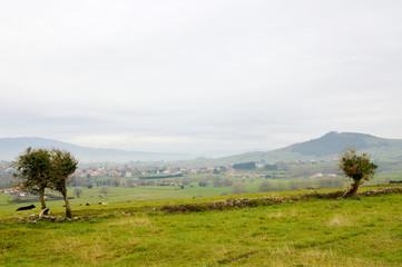 Idyllic mountain landscape in Asturias in Spain