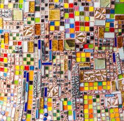 Colorful mosaic wall