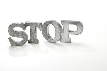 STOP/金属製の文字