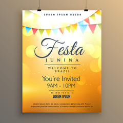 latin american festa junina festival background poster design