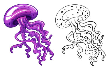 Doodle animal for jellyfish