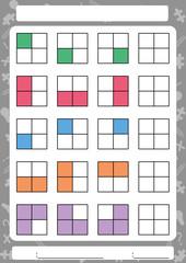 Complete the next pattern, Worksheet for children