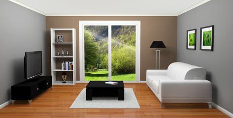 maison appartement salon 3D