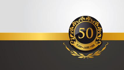 50 Jahre Geburtstag oder Jubiläum Vektor Emblem
