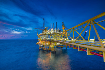 Offshore oil and gas central processing platform treat gas then sent to onshore refinery, petrochemical industry and power generation plant to produce electricity.