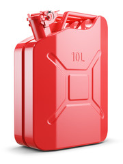 Red metal jerry can