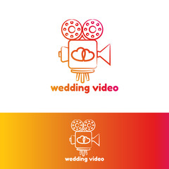 Wedding video logo template