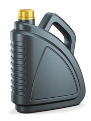Plastic motor oil canister