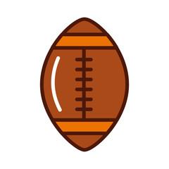 brightly american football ball cartoon vector graphic design