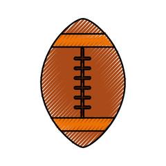 scribble american football ball cartoon vector graphic design
