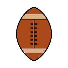 american football ball cartoon vector graphic design