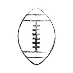 sketch draw american football ball cartoon vector graphic design