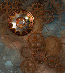 Vintage steampunk background
