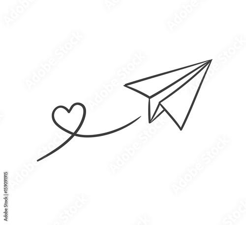 Herz Papierflieger\