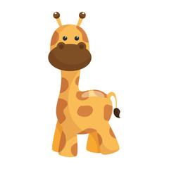giraffe toy icon over white background vector illustration