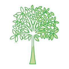 shadow cute green tree cartoon vector graphic design