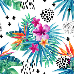 Abstract tropical summer seamless pattern.