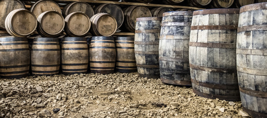 Glenbeg, Ardnamurchan / Scotland - May 26 2017 : Ardnamurchan distillery is producing whisky since 2014 and actually expanding their warehouses Fototapete