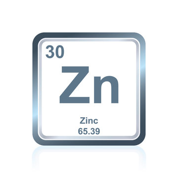 Chemical element zinc from the Periodic Table