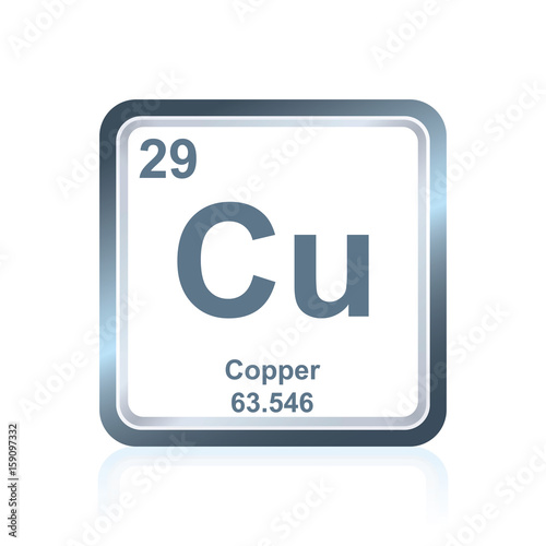 Chemical Element Copper From The Periodic Table Stock Image And