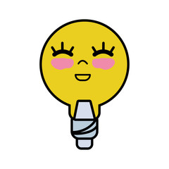 kawaii cute happy bulb energy