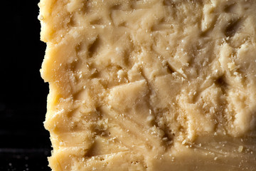 Texture of parmesan cheese