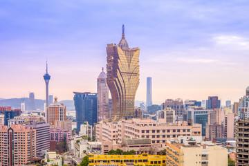 skyline of macau, china