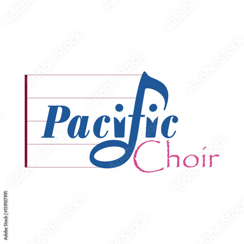 Bar Note Symbols With The Words Pacivic Choir The Two I Letters