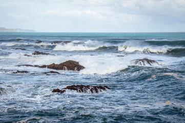 Big waves and spray