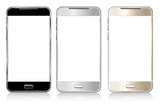 Three Phones Cell Smart Mobile
