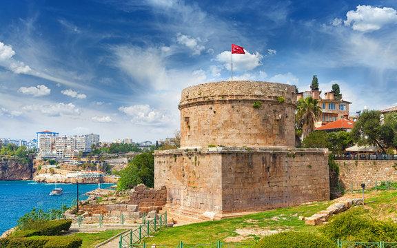 Hidirlik Tower in Antalya, Turkey
