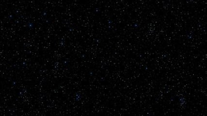 Abstract background for your project. The beautiful starry sky is blue. The stars glow in complete darkness. A fantastic, huge galaxy. Open space. Vector illustration
