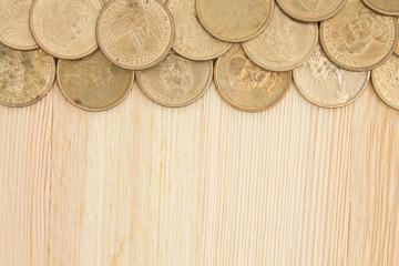 Gold coin money background