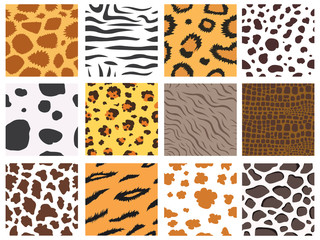 Animal fur texture nature abstract wildlife background wild furry hair seamless pattern natural material africa striped textile vector illustration
