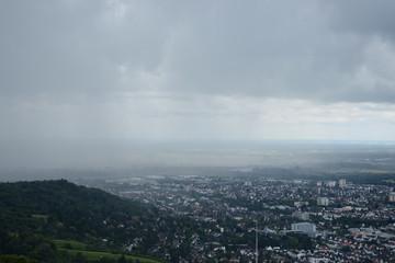 Gewitterwolken an der Bergstraße