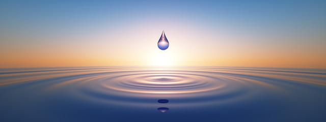 Wassertropfen im weiten Ozean