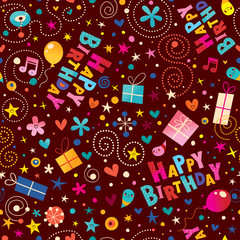 Happy birthday party seamless pattern