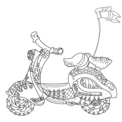 Motor scooter doodle