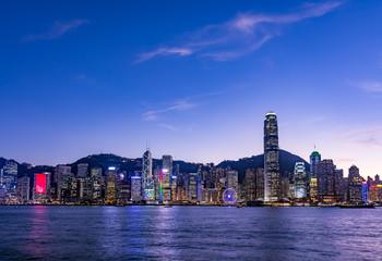 九龍半島から望む香港の夜景