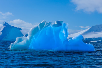Wonderful transparent iceberg in Antarctica